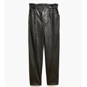 Madewell Vegan Leather Pull-On Paperbag Pants
